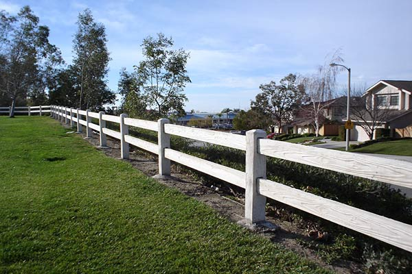 concrete fencing 2 rail