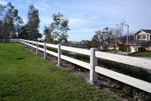 concrete fencing 2 rail
