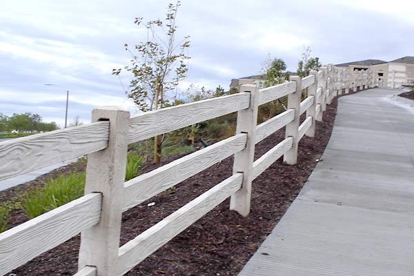 3 rail concrete fencing